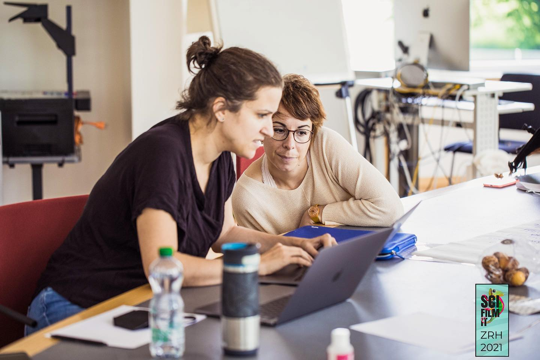 Our NCCR members Carmen Saldana and Chiara Barbieri.